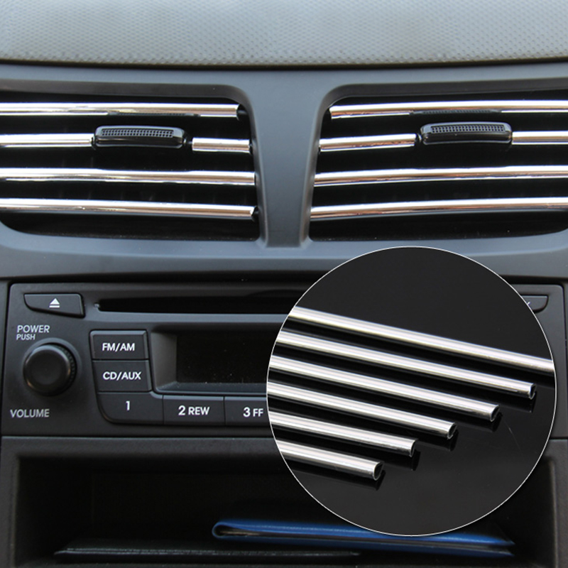 4m chrome trim strip car interior door molding universal adhesive sticker ebay. Black Bedroom Furniture Sets. Home Design Ideas