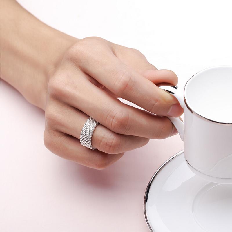 frauen weise berzog klassischen web ring daumen ring schmuck weihnachtsgeschenk ebay. Black Bedroom Furniture Sets. Home Design Ideas