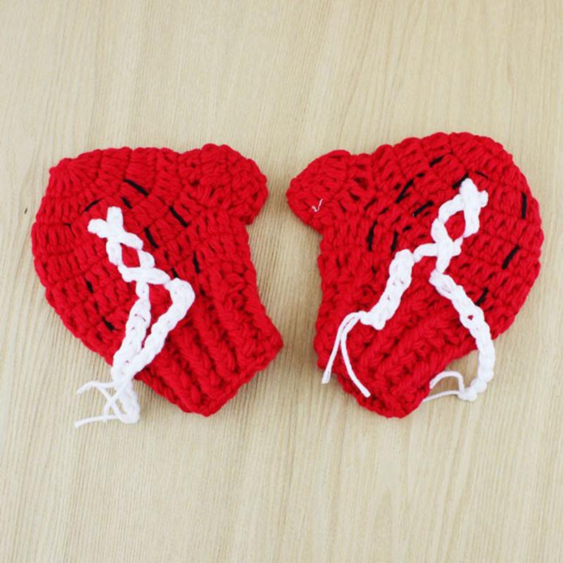 Knitting Pattern Boxing Gloves : Newborn Baby Crochet 2pcs Suit Set Knit Boxing Gloves Pants Costume Photography