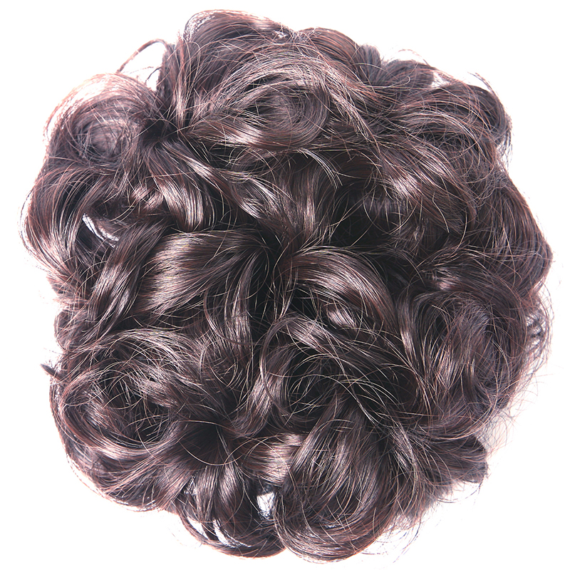 wavy curly synthetic hair bun cover hairpiece clip in scrunchie hair extension ebay. Black Bedroom Furniture Sets. Home Design Ideas