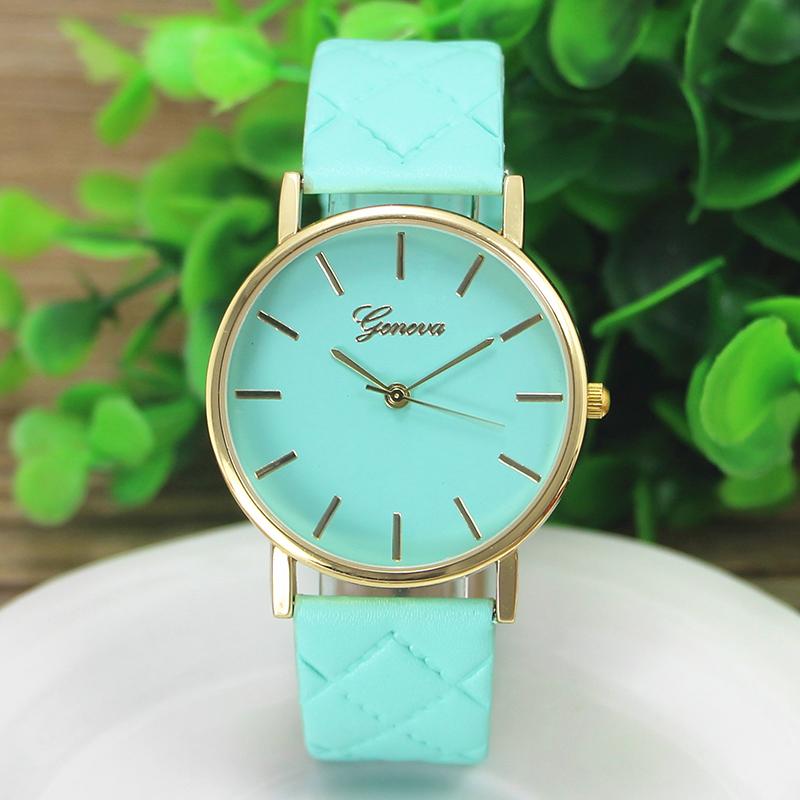 Hommes Femmes Casual Checkers faux cuir Quartz analogique Wrist Watch HOT
