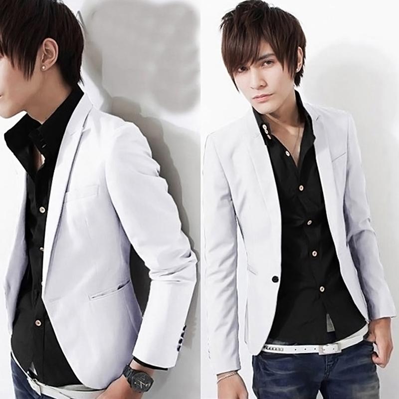 Chic Men Casual Slim Fit One Button Suit Blazer Coat Jacket Tops Business Style