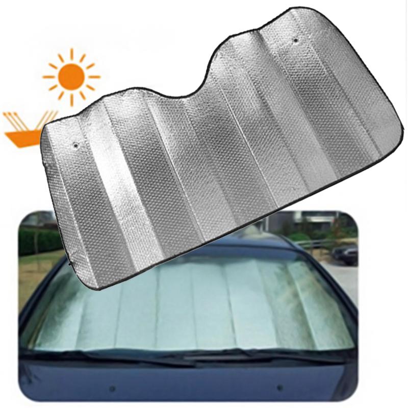 car windscreen sun shade heat reflective windshield visor front window block ebay. Black Bedroom Furniture Sets. Home Design Ideas