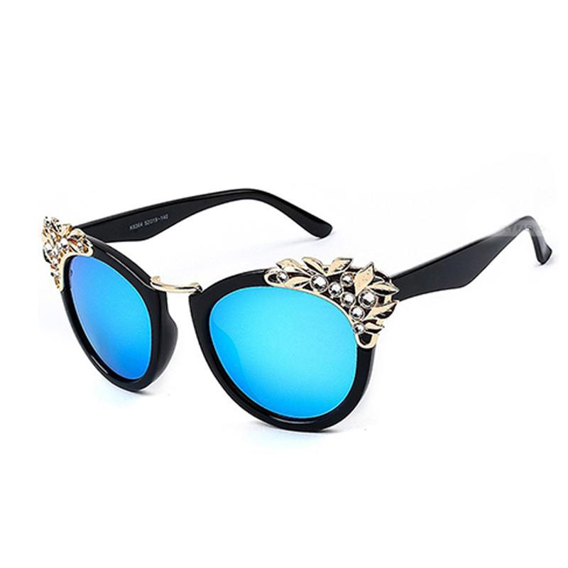 luxury rhinestone sunshades sunglasses cat eye