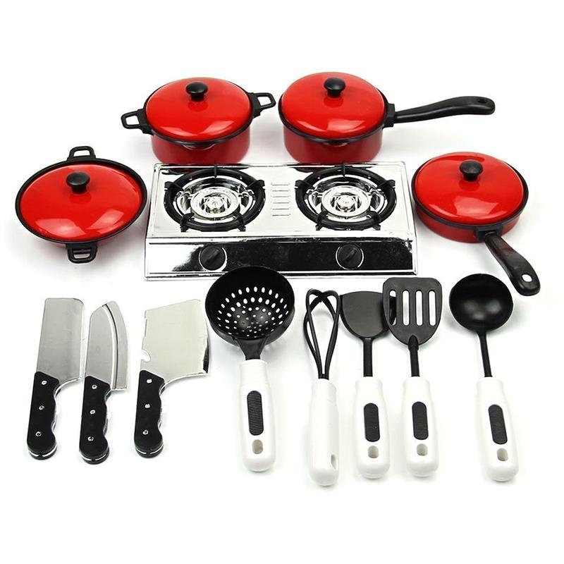 Kids Children Play Toy Kitchen Utensils Pots Pans Cooking Dishes Cookware Ebay