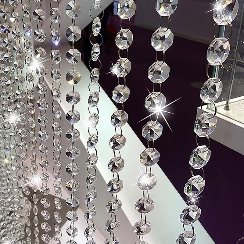 New clear crystal acrylic bead garland chandelier hanging - Nastri decorativi natalizi ...
