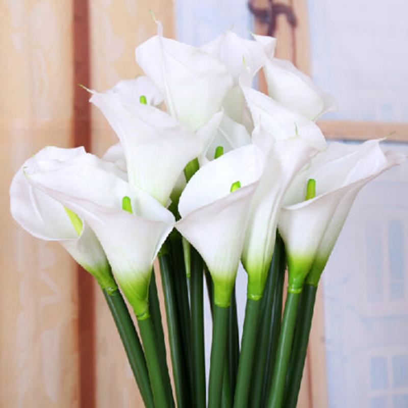 10x restposten kunstblumen latex calla lily sonnenblumen deko blumen pflanze new ebay. Black Bedroom Furniture Sets. Home Design Ideas