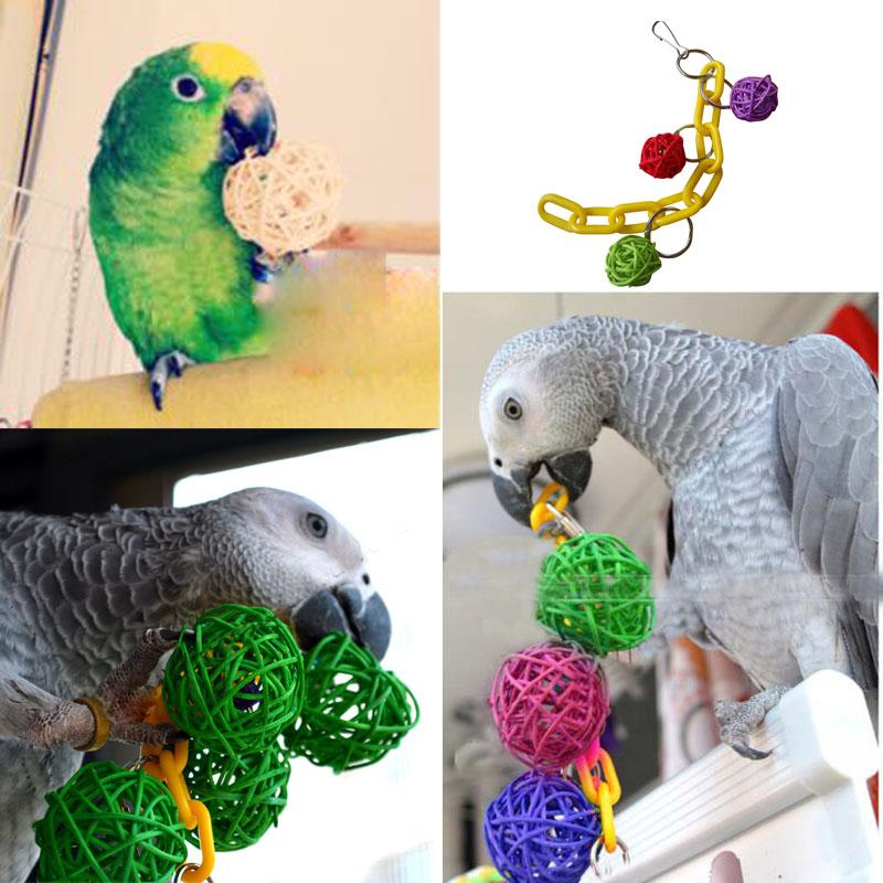 Parakeet Chew Toys : New pet bird bites parrot climb chew toys swing cage