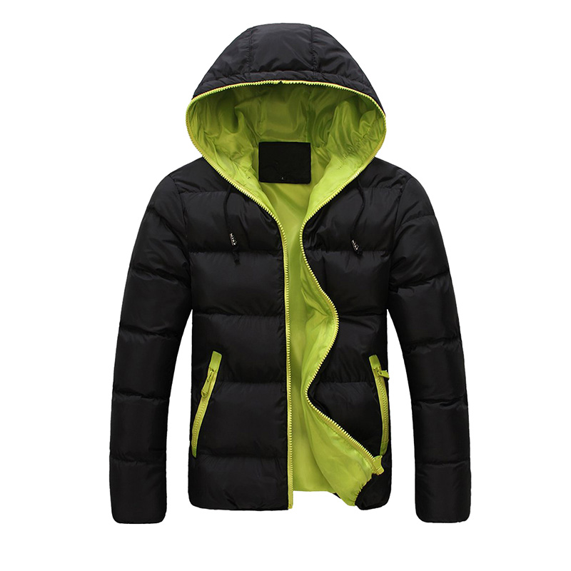 Fashion Men's  Winter Hooded Thick Padded Jacket Zipper Slim Outwear Coat  Warm