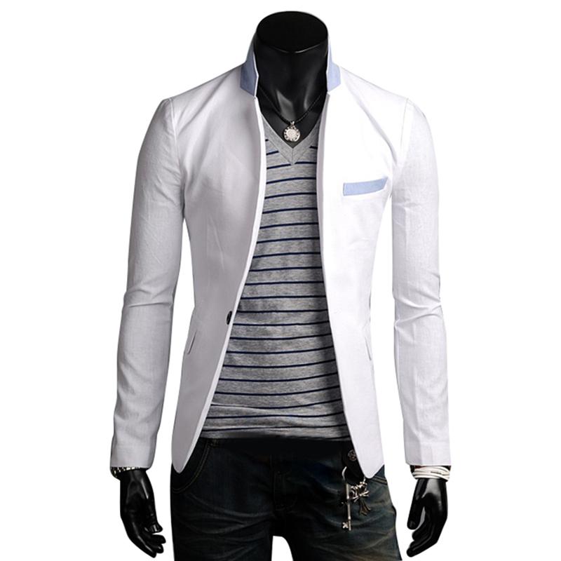 Fashion Mens Slim Fit Stylish Casual One Button Suit Coat Jacket ...