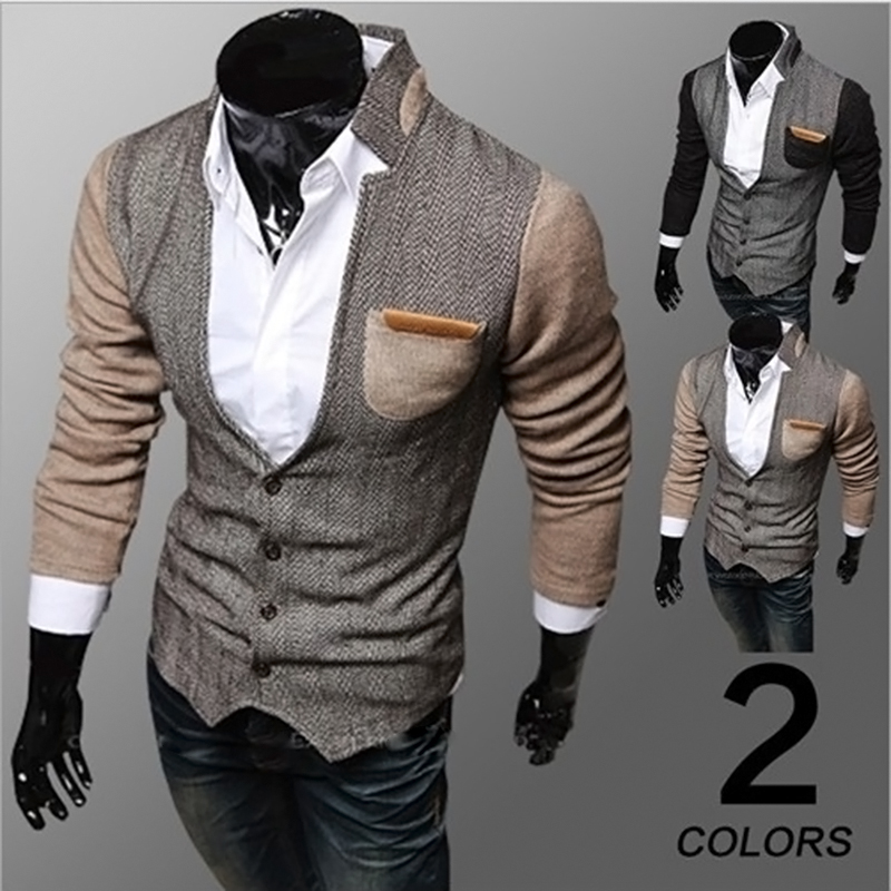 Fashion Men's Slim Fit Stylish Casual Button Suit Business Blazers ...