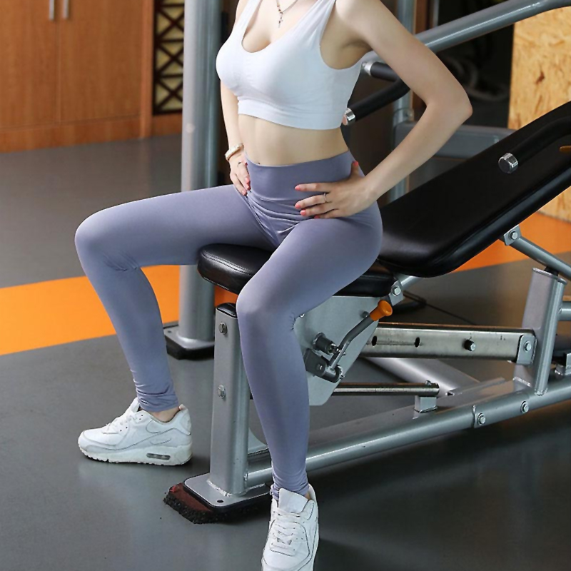 damen leggings lang hoher bund hose blickdicht leggins w sche sport yoga jianshe ebay. Black Bedroom Furniture Sets. Home Design Ideas