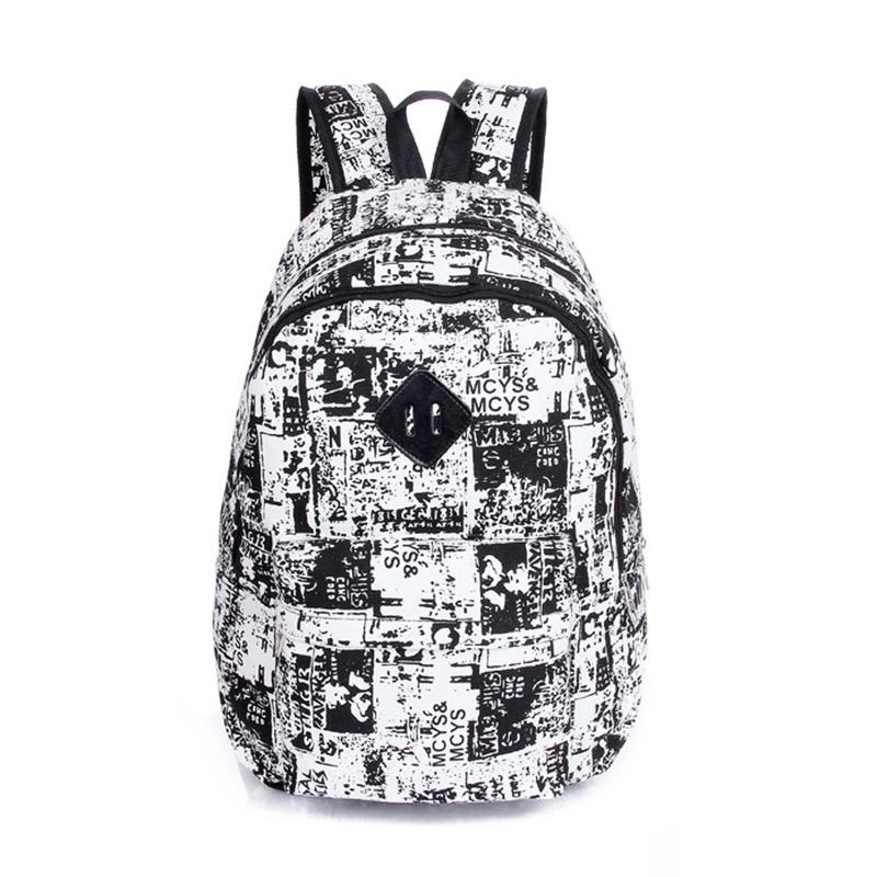 Girl Women's Vintage Canvas Backpack Satchel Rucksack Shoulder School Bag