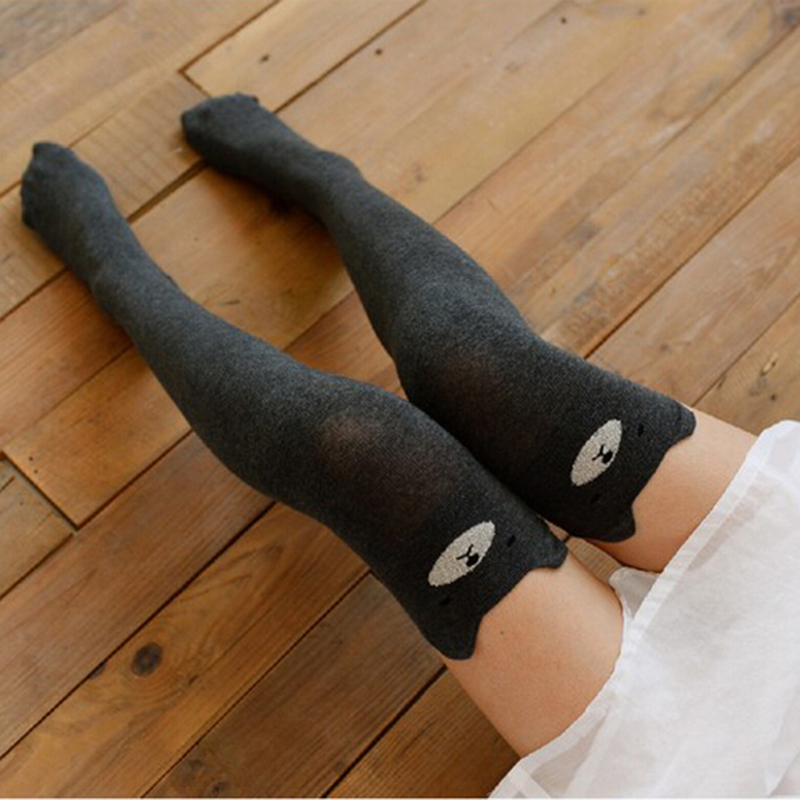 Fashion Women Cotton Over Knee Thigh Stockings Pantyhose Tights High Socks