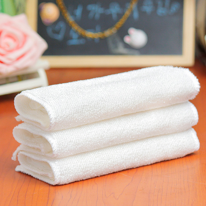White Absorbent Microfiber Towels Hand Towel Kitchen