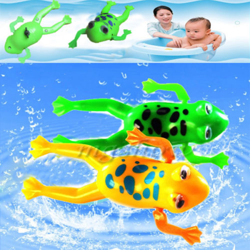 bad wanne spielzeug uhrwerk landet kunststoff bad frosch pool f r baby kind ebay. Black Bedroom Furniture Sets. Home Design Ideas