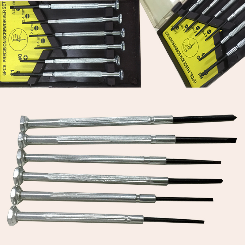 6pcs set precision screwdriver micro jewelers mini watchmakers phillips slotted ebay. Black Bedroom Furniture Sets. Home Design Ideas