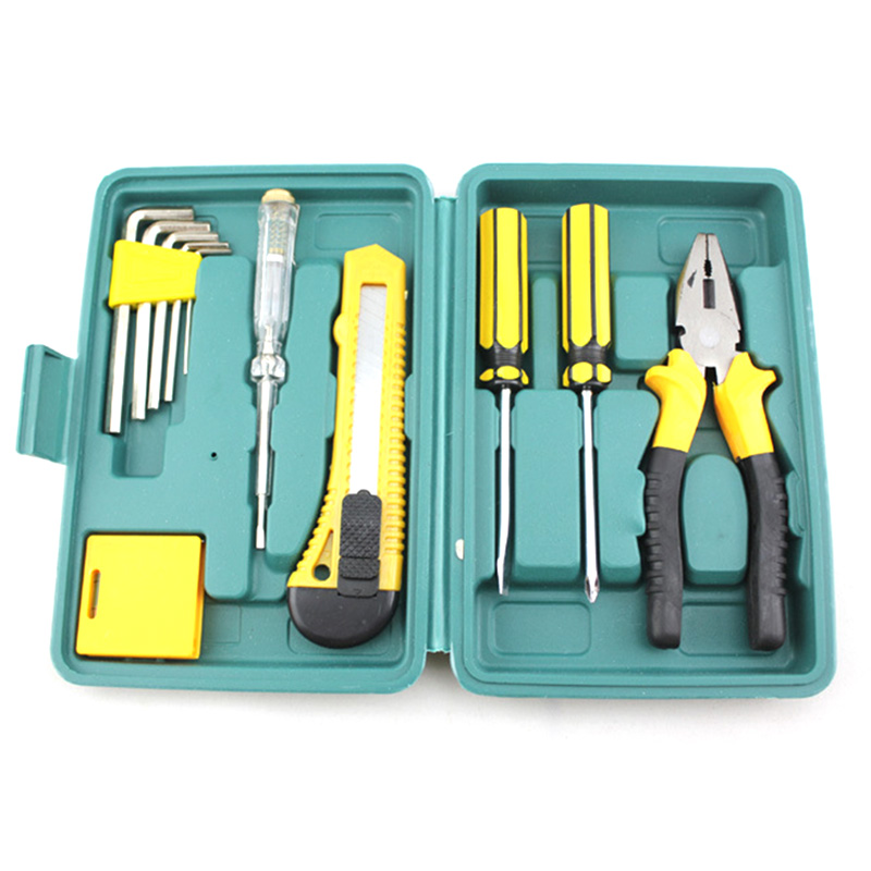 handle household tools kit car home repair screwdriver wrench plier set box n. Black Bedroom Furniture Sets. Home Design Ideas
