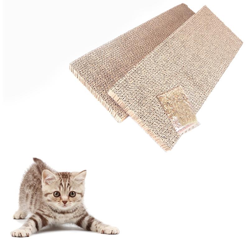 Cat kitten flat scratching board pad scratcher bed mat claw care toy with catnip ebay - Cat bed scratcher ...