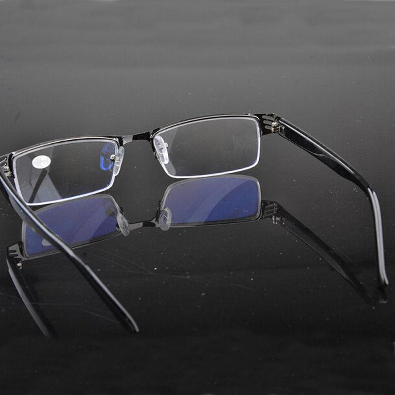 Black Metal Half Frame Design Men&Women Reading Glasses ...