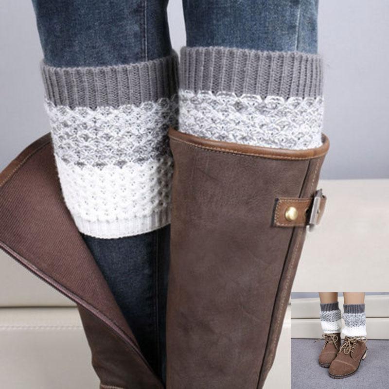 Winter Fashion Women Crochet Knitted Boot Cuffs Toppers Leg Warmers Socks eBay