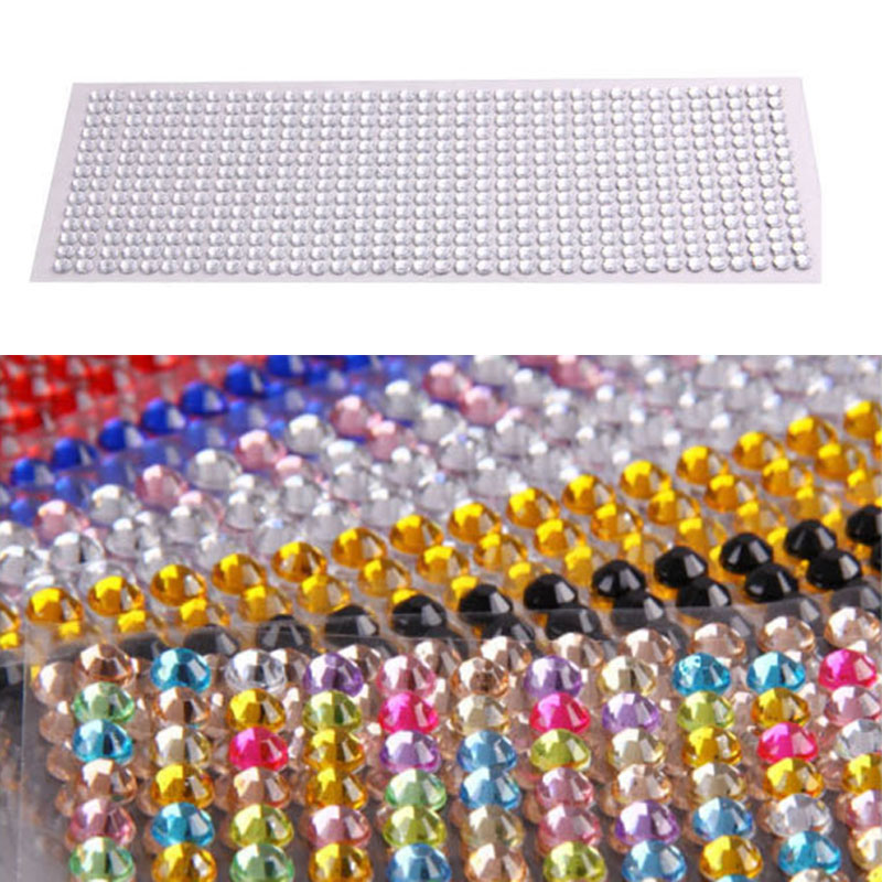 Decorative Rhinestone Stickers : New crystal rhinestone car styling sticker decor
