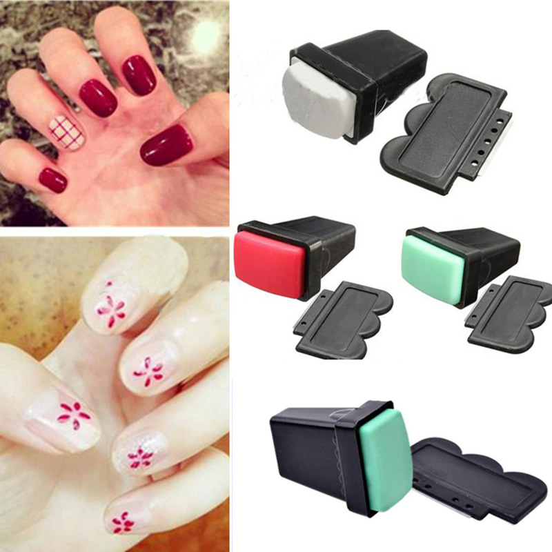 Scraper nail art stamping plate double ended stamper 01794 area code