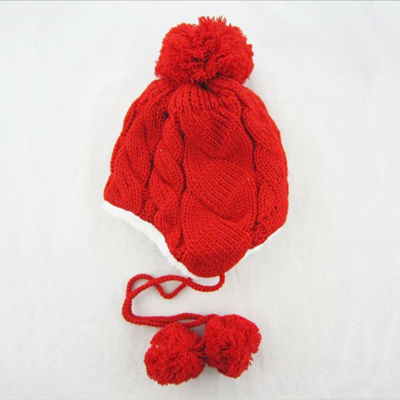 Knitting Pattern Child s Winter Hat : Winter Warm Hat Hemp Pattern Knitting Cap Children Warm Gorros Beanies For Ki...