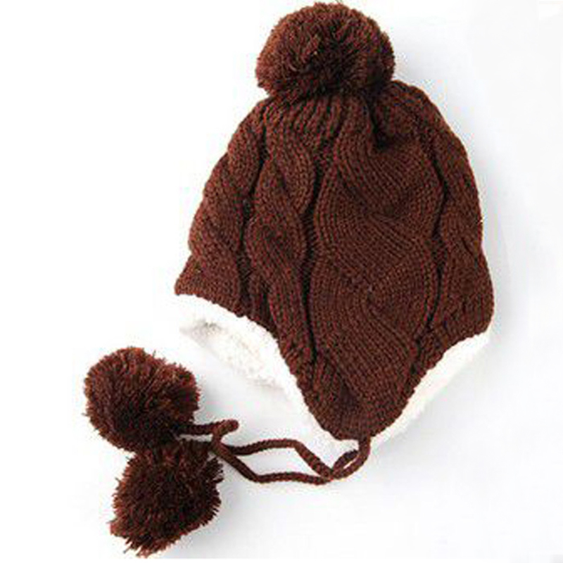 Winter Warm Hat Hemp Pattern Knitting Cap Children Warm ...