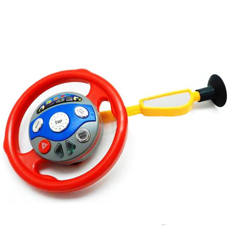 Kids Back Seat Car Steering Wheel Driving Game Toys Horn