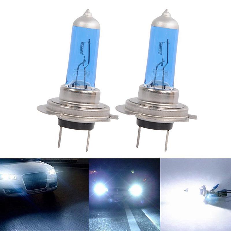 2 x h7 6000k xenon gas halogen headlight white light lamp. Black Bedroom Furniture Sets. Home Design Ideas