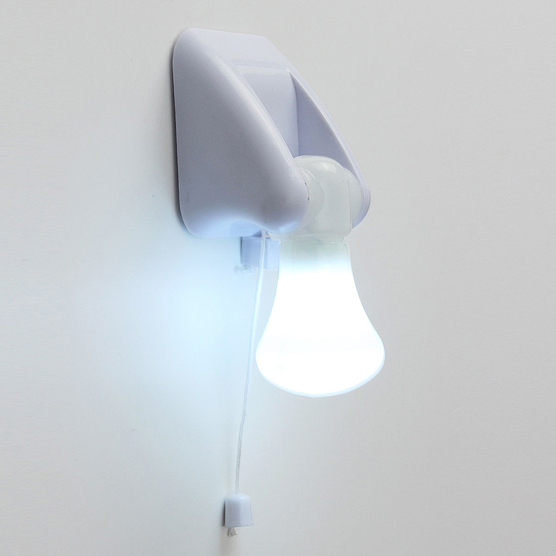 Wall Mounted Night Lamps : LED Mini Wired Bulb Cabinet Wall Mount Table Lamp Night Light Battery Adhesive eBay