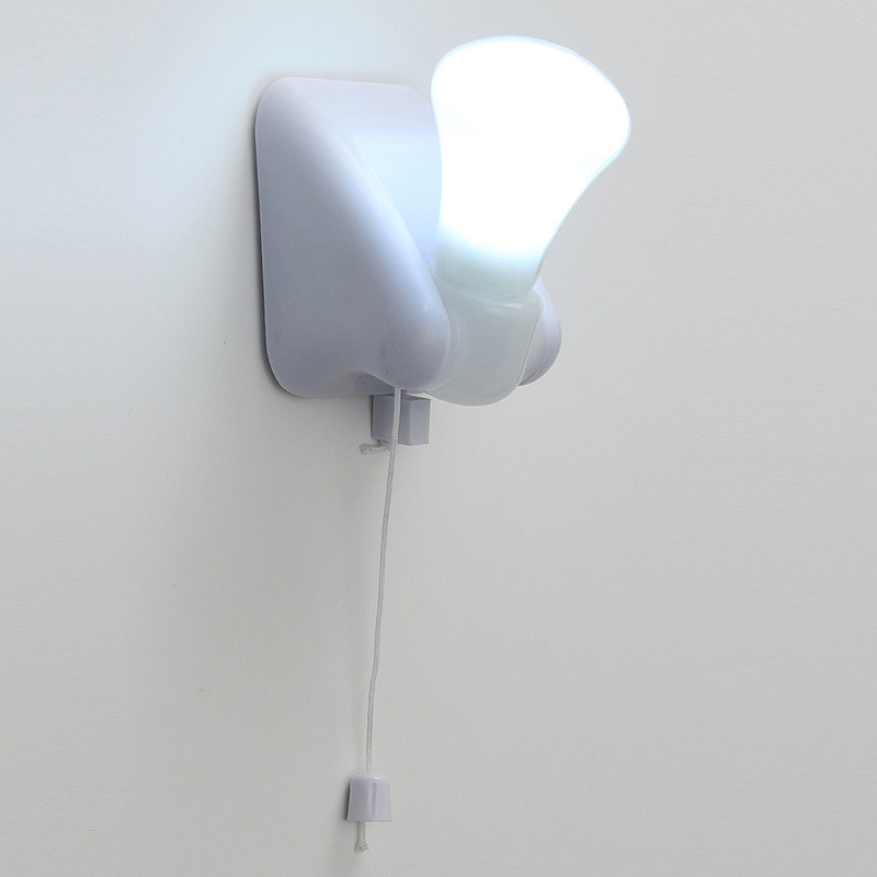 Wall Mounted Night Table Lamps : Self Adhesive Night Handy LED Bulb Cabinet Wall Mount Table Lamp Light Battery eBay