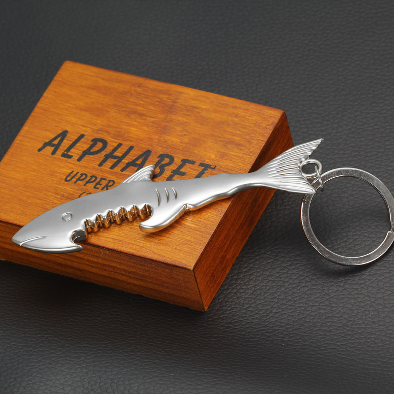 1pc creative fashion shark fish keychain keyring key ring chain bottle opener ebay. Black Bedroom Furniture Sets. Home Design Ideas