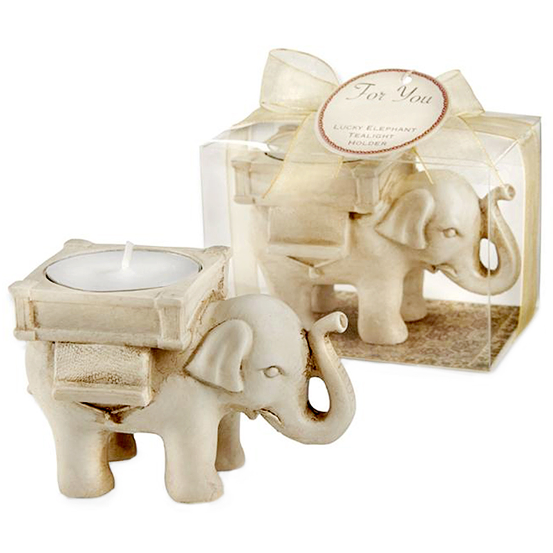 Lucky Elephant Tea Light Candle Holder Candlestick Wedding