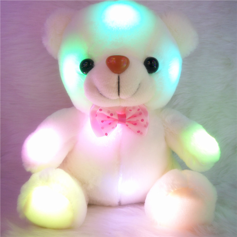 Cute Stuffed Night Light Plush Lovely Teddy Bear Soft Doll Baby Toy Xmas Gift