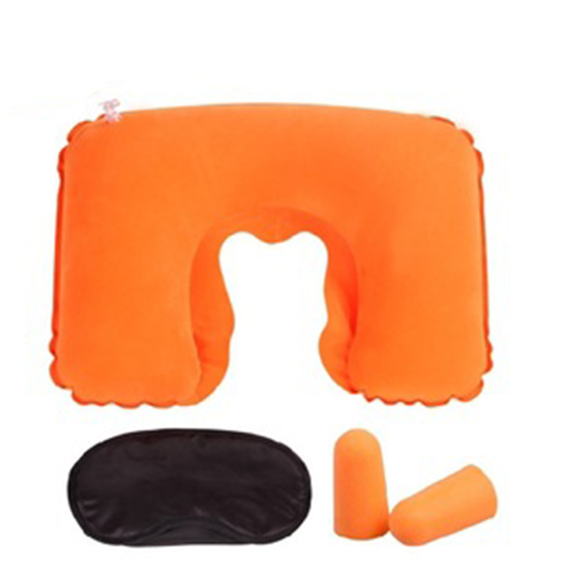 Travel Inflatable Pillow Head Neck Rest Cushion Camping