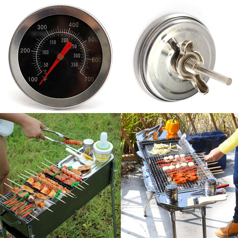 outdoor camping bbq pit smoker grill thermometer gauge