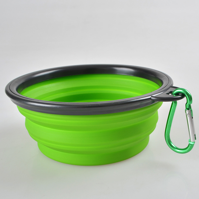 Water Rover Portable Pet Bowl: Portable Foldable Collapsible Pet Cat Dog Food Water
