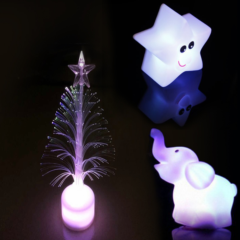 mini usb led color changing christmas tree star elephant led light lamp. Black Bedroom Furniture Sets. Home Design Ideas