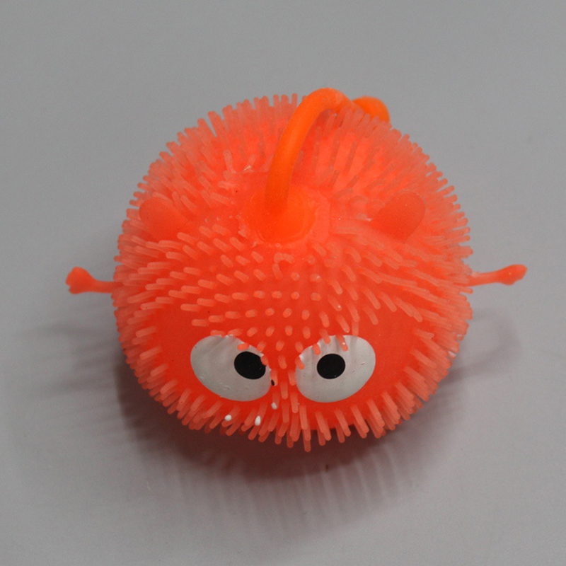 Squishy Ball With Spikes : 1X Light Up Balls Smiley Face Ball Spiky Bouncing Ball Soft Rubber Random Color eBay