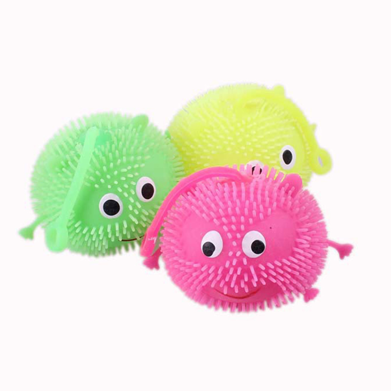 Squishy Spiky Ball : 1X Light Up Balls Smiley Face Ball Spiky Bouncing Ball Soft Rubber Random Color eBay