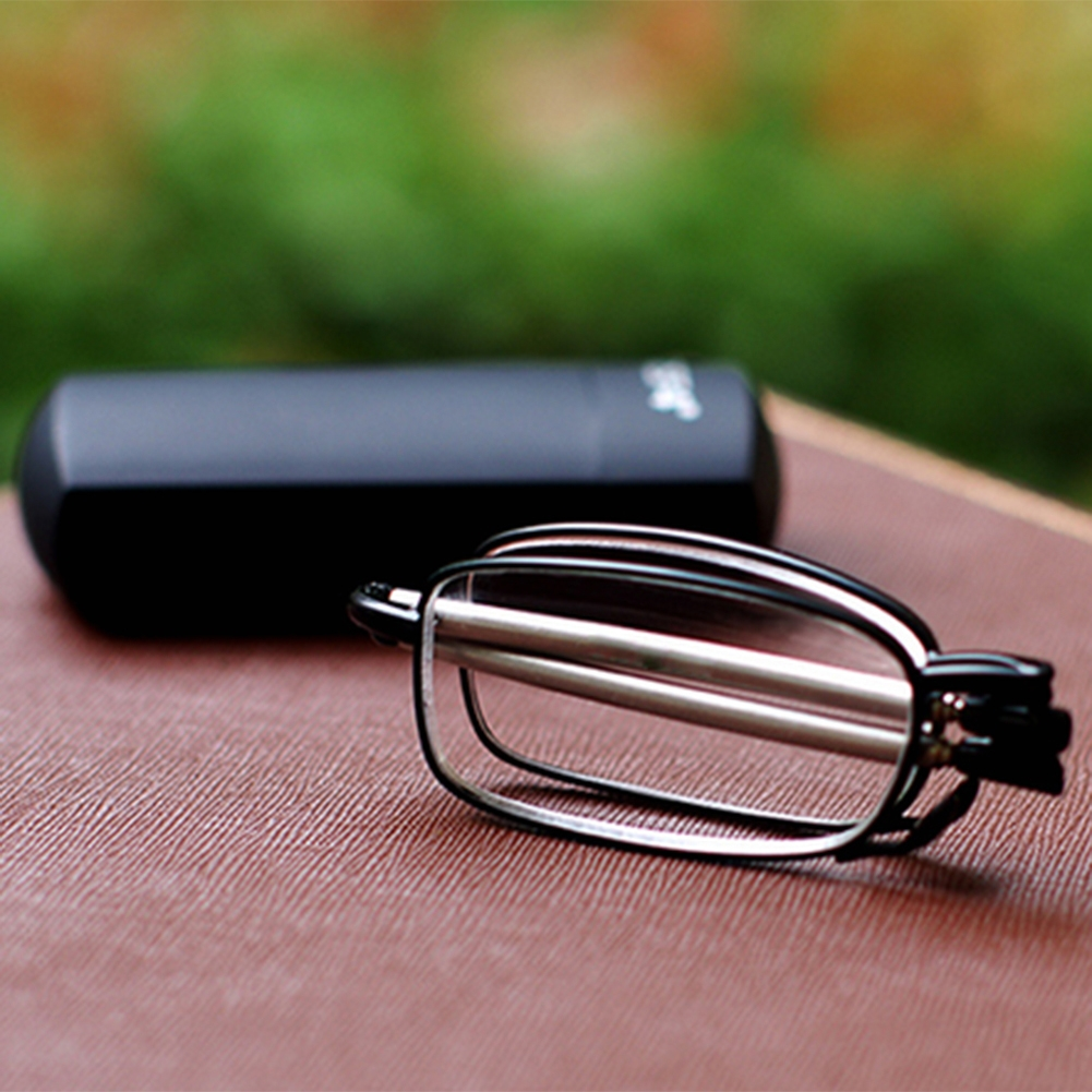Compact Folding Frame Reading Glasses Rotation Eyeglass +1 ...