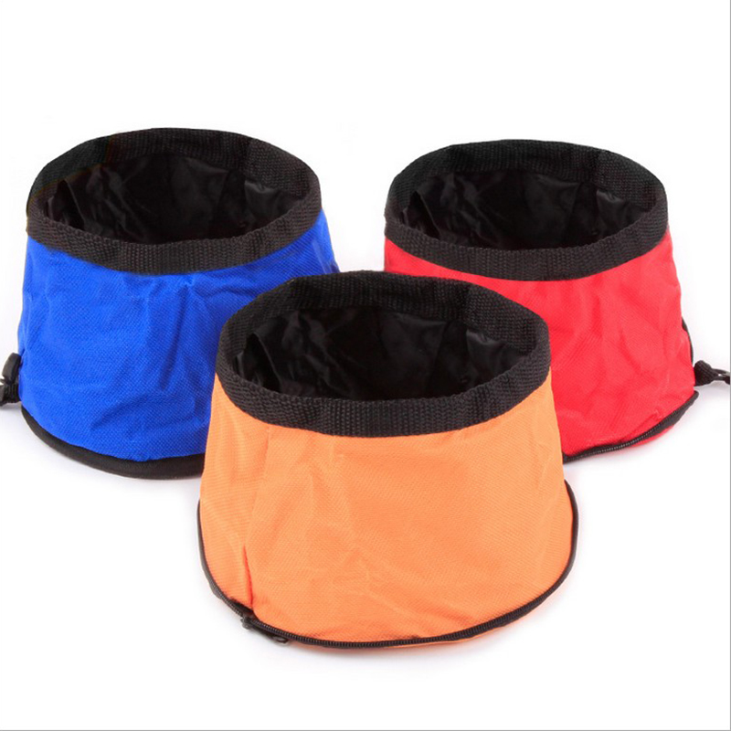 Folding Dog Bowl Fold-Up Collapsible Food Water Travel Pet ...