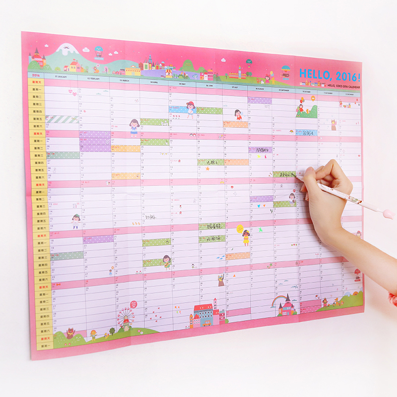 Hanging Planner Calendar : Wall calendar home office month planner large paper