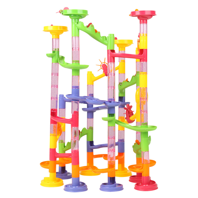 Marble Game Blocks : Marble run race kid children boy building construction
