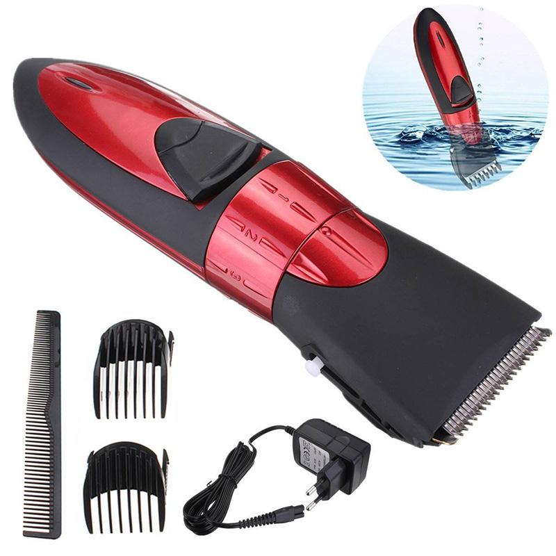 washable electric rechargeable men 39 s beard hair shaver clipper trimmer set. Black Bedroom Furniture Sets. Home Design Ideas