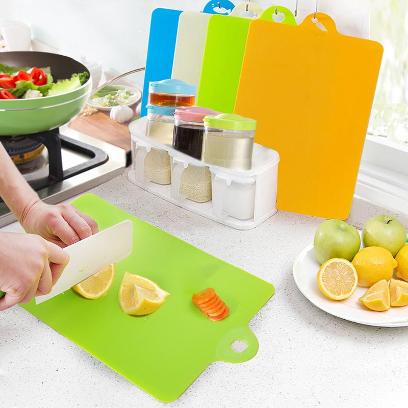 Cutting Flexible Plastic Chopping Board Set Food Kitchen