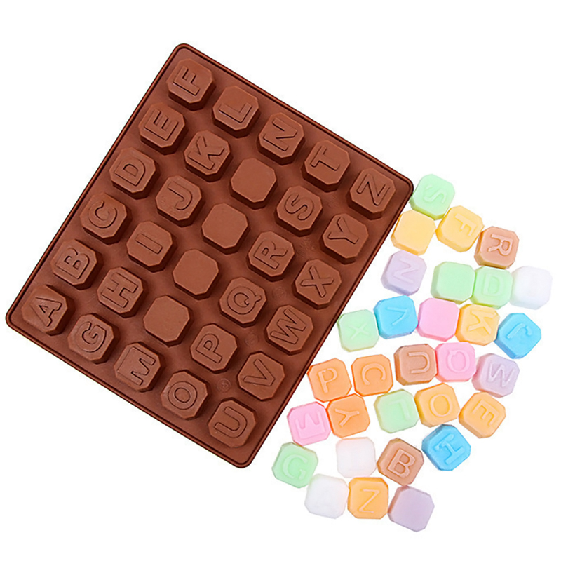 Silicone Letter Alphabet Cake Fondant Mould Chocolate