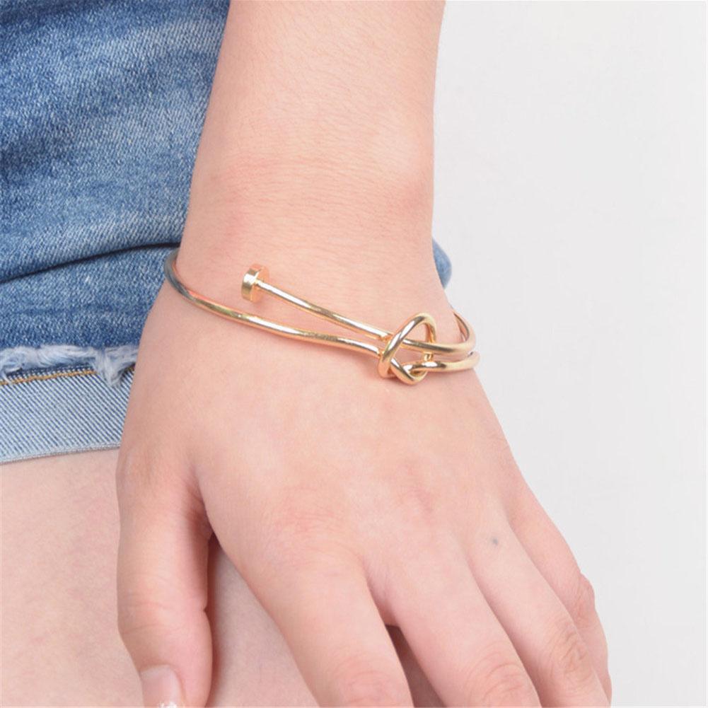 Women039s Bangle Bracelets: New Men's Women's Stainless Steel Screw Nail Knot Bracelet